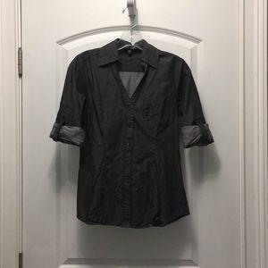 Express fitted dress shirt